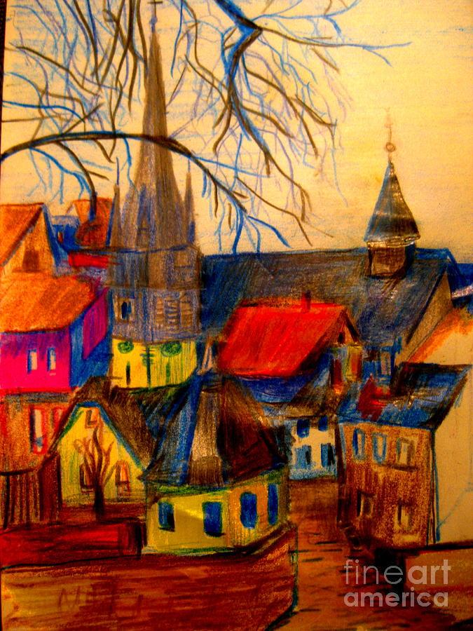 Start Of German Village Drawing