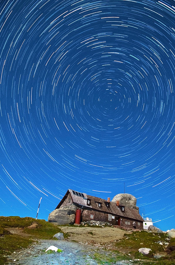 Startrails Above Omu Hut Photograph  - Startrails Above Omu Hut Fine Art Print