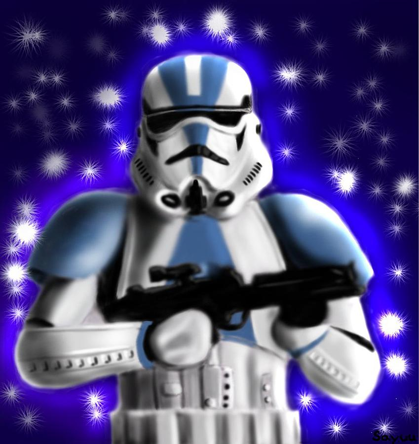 Starwars. Stormtrooper Drawing  - Starwars. Stormtrooper Fine Art Print