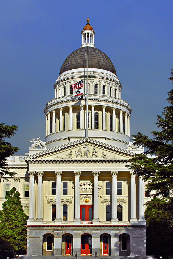 State Capitol Building Sacramento California Photograph  - State Capitol Building Sacramento California Fine Art Print