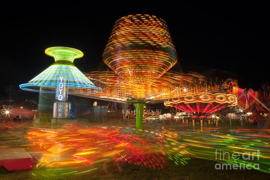 State Fair Rides At Night I Photograph