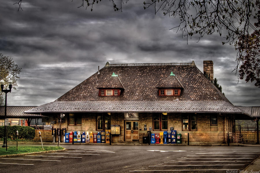 Station - Westfield Nj - The Train Station Photograph  - Station - Westfield Nj - The Train Station Fine Art Print