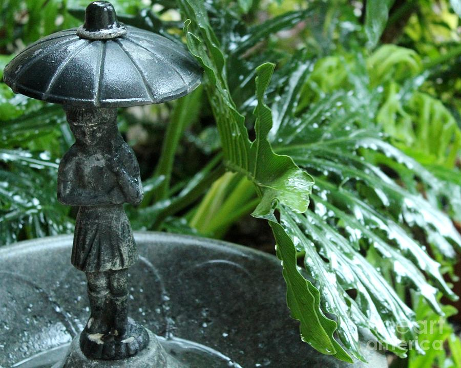 Statuary In The Rain Photograph