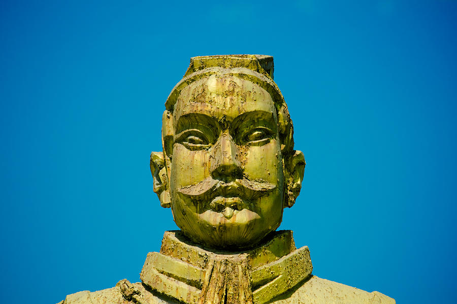 Statue Of Chinese Warrior Photograph
