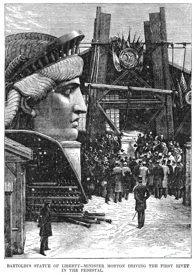Statue Of Liberty, 1881 Photograph
