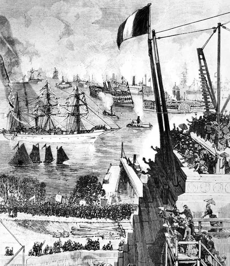Statue Of Liberty, 1885 Photograph