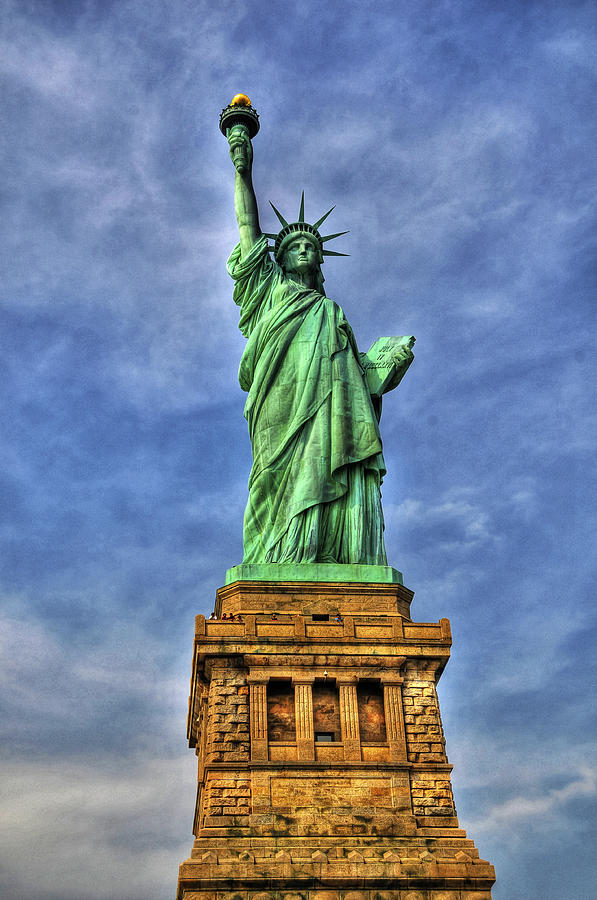 Statue Of Liberty Front View Photograph  - Statue Of Liberty Front View Fine Art Print