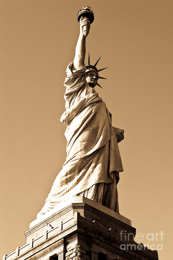 New Photograph - Statue Of Liberty by Syed Aqueel