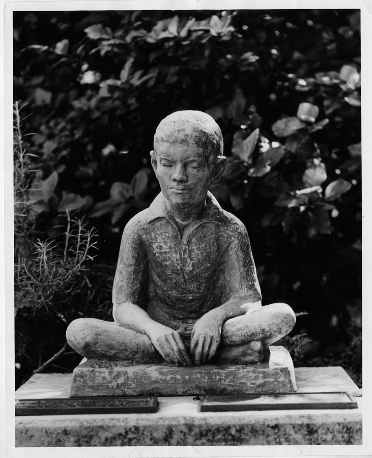 Statue Of Louis Braille In Bermudas Photograph