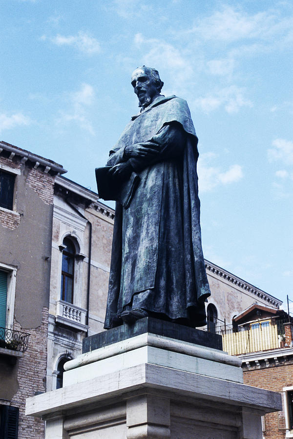 Statue Of Paolo Sarpi, Venetian Scientist Photograph  - Statue Of Paolo Sarpi, Venetian Scientist Fine Art Print