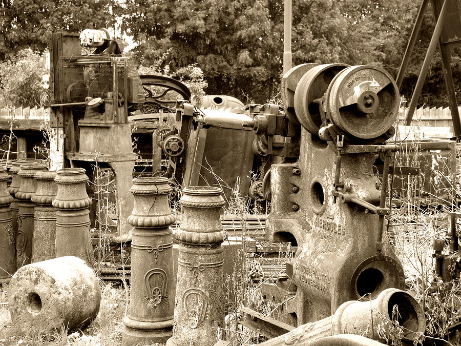 Steam Junkyard Photograph  - Steam Junkyard Fine Art Print