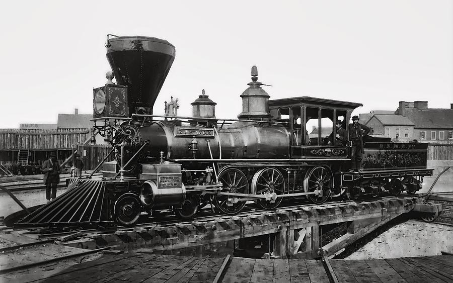 Steam Locomotive Edward M Stanton 1864 Photograph By
