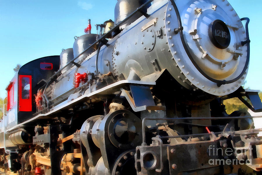 Steam Locomotive Engine 1215 . 7d12980 Photograph