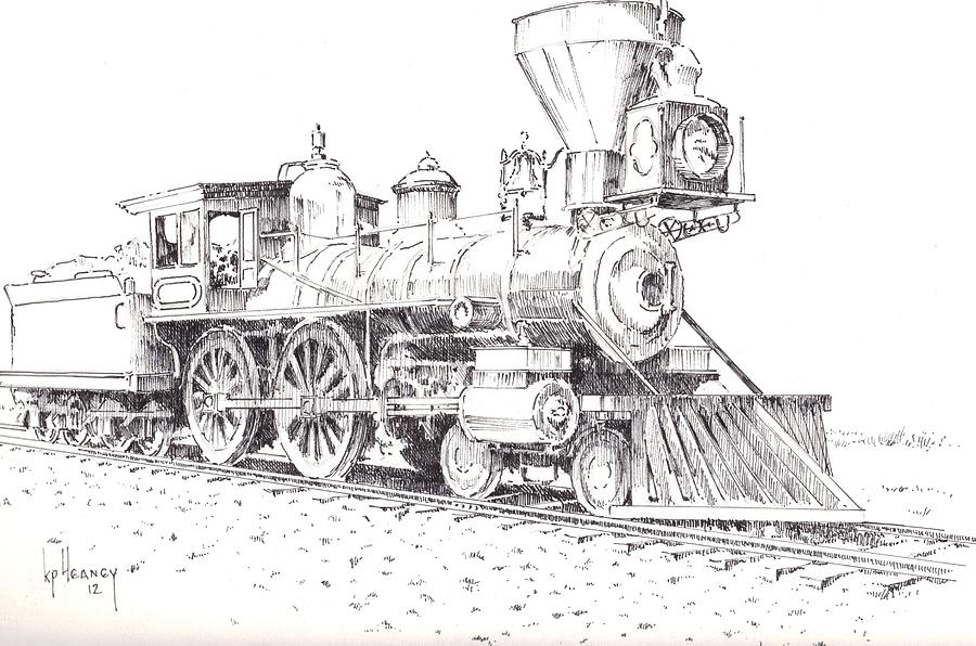 Steam Locomotive Drawing