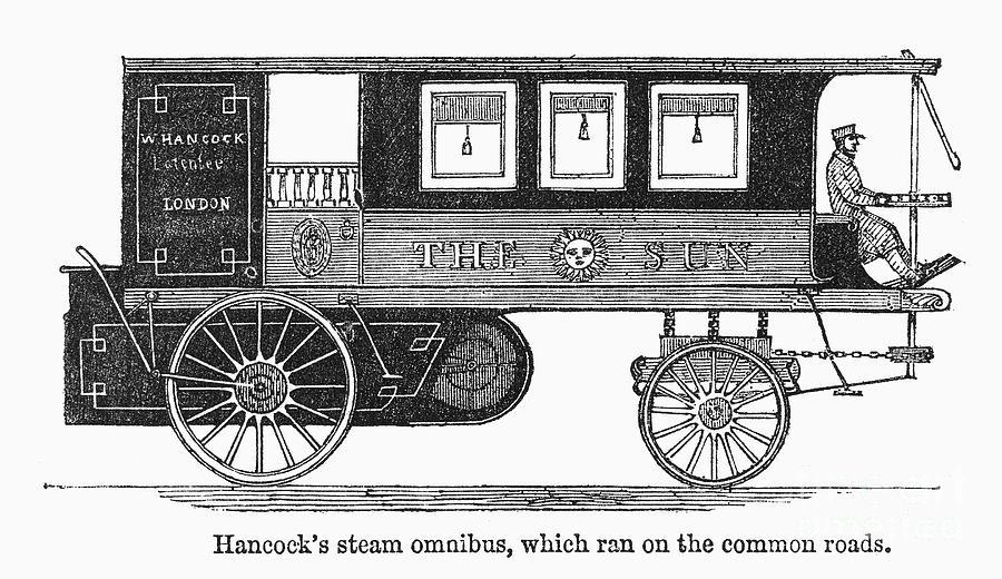 1840 Photograph - Steam Omnibus, 1830s by Granger