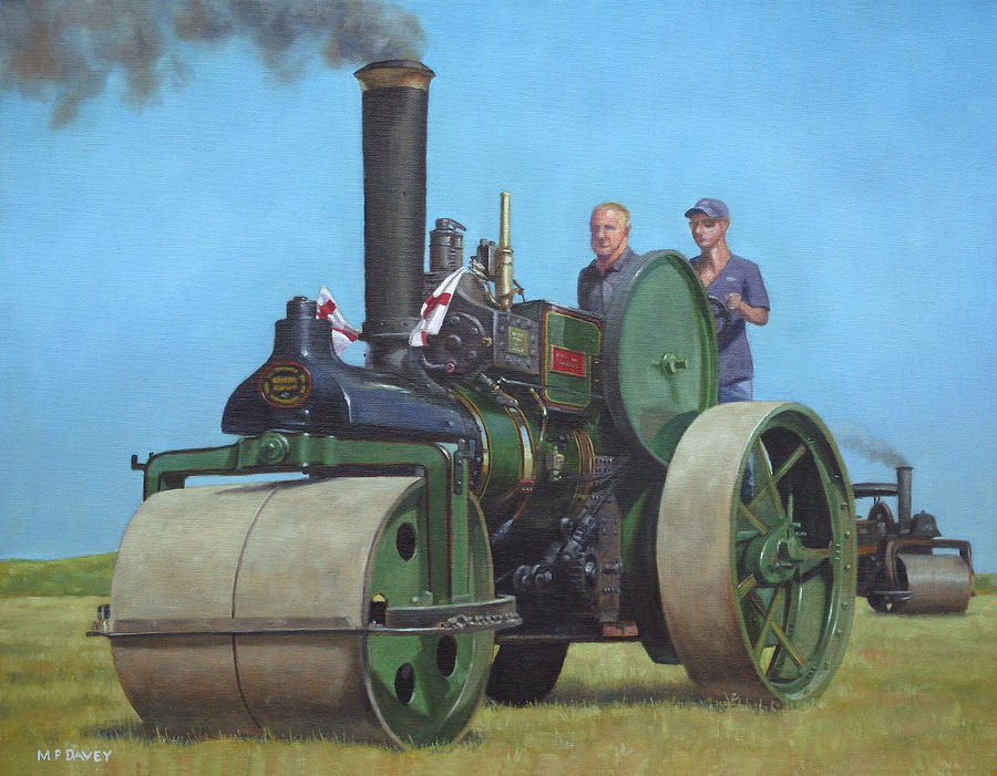 Steam Roller Traction Engine Painting
