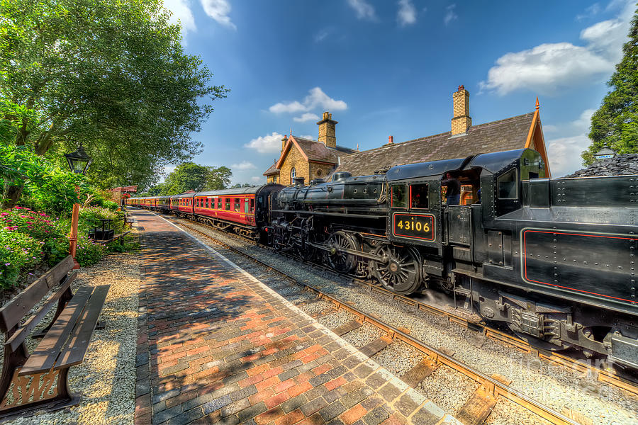 Steam Train Photograph  - Steam Train Fine Art Print