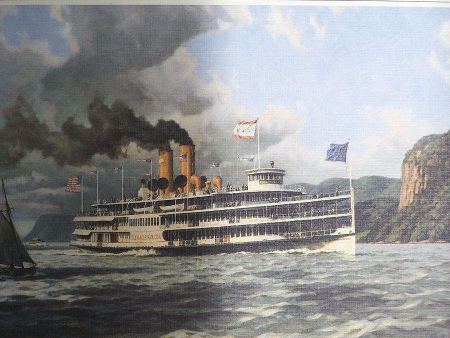 Steamer Alexander Hamilton William G Muller Photograph  - Steamer Alexander Hamilton William G Muller Fine Art Print