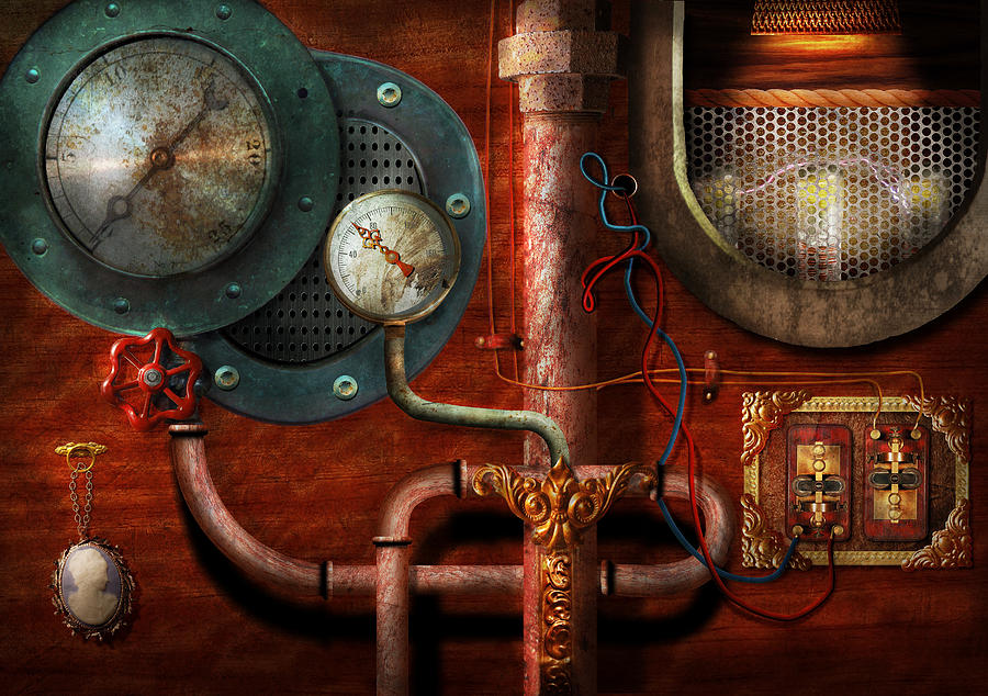 Steampunk - Controls Photograph  - Steampunk - Controls Fine Art Print