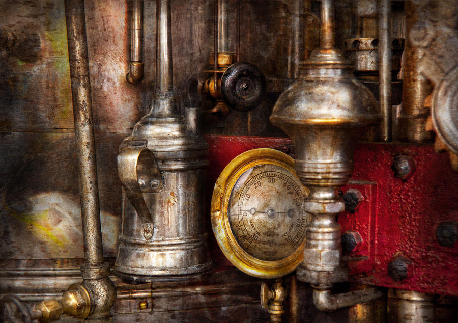 Steampunk - Needs Oil Photograph  - Steampunk - Needs Oil Fine Art Print