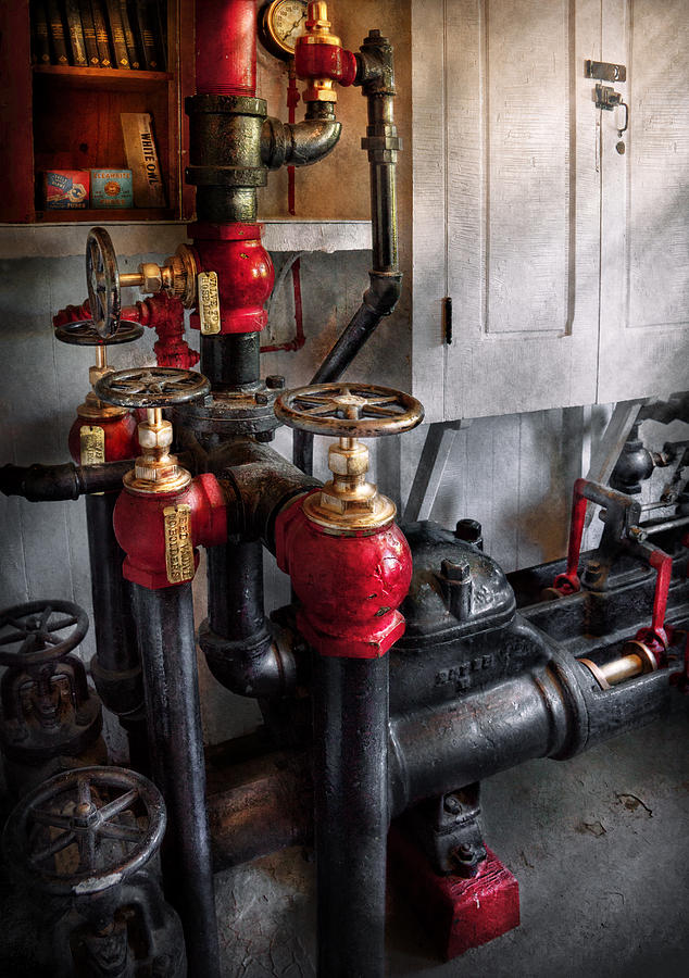 Steampunk - Plumbing - Turn The Valve  Photograph  - Steampunk - Plumbing - Turn The Valve  Fine Art Print