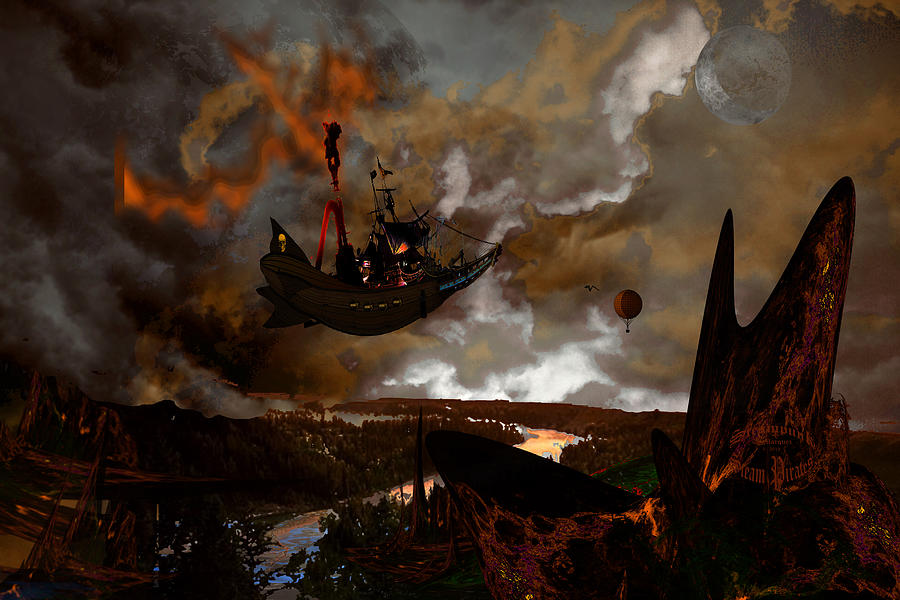 Steampunk - Steam Pirates Photograph  - Steampunk - Steam Pirates Fine Art Print