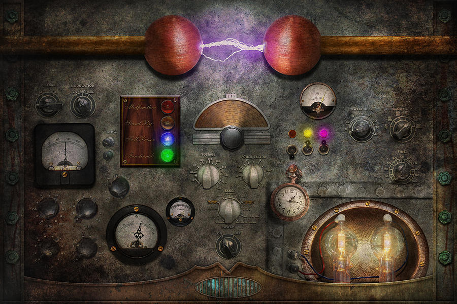 Steampunk - The Modulator Photograph  - Steampunk - The Modulator Fine Art Print