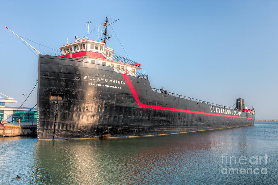 Steamship William G. Mather I Photograph  - Steamship William G. Mather I Fine Art Print