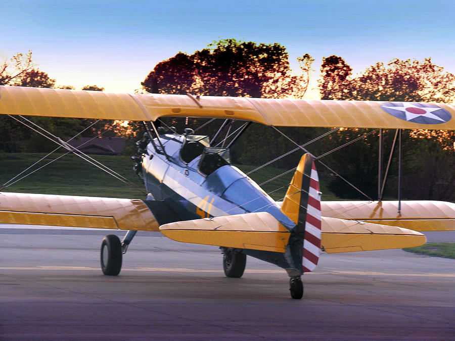 Stearman Sundown Photograph  - Stearman Sundown Fine Art Print