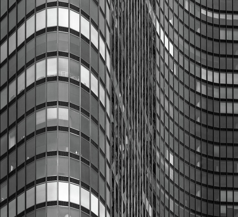 Steel And Glass Curtain Wall Photograph  - Steel And Glass Curtain Wall Fine Art Print