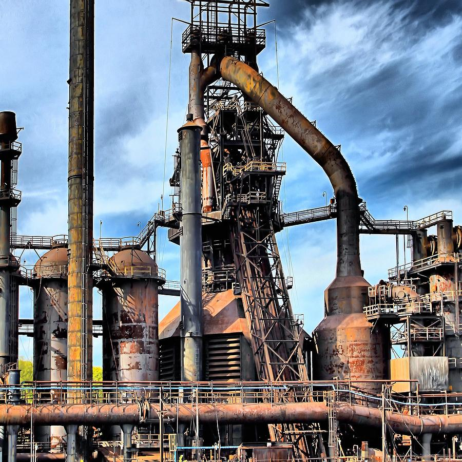 Steel Stacks Bethlehem Pa. Photograph  - Steel Stacks Bethlehem Pa. Fine Art Print
