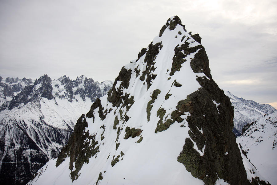 Steep Mountain Chamonix France Photograph