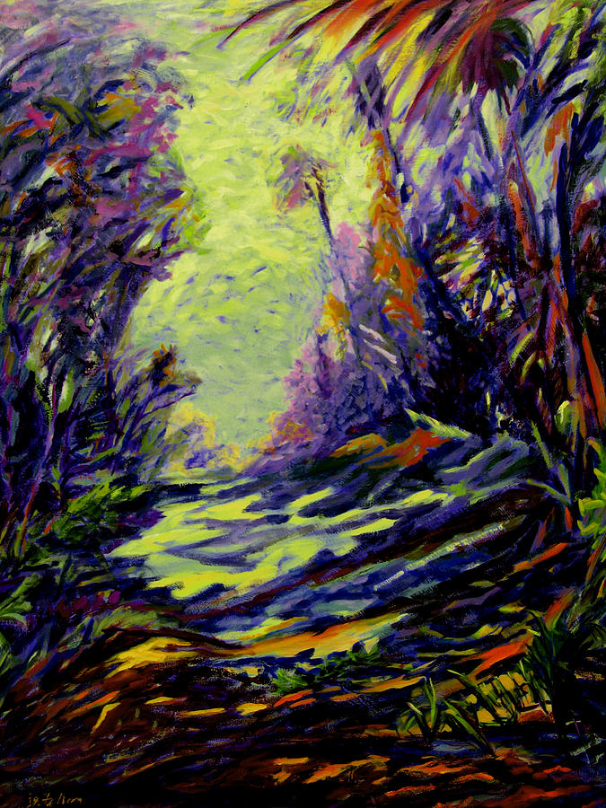 Steep Mountain Road St. Lucia Painting  - Steep Mountain Road St. Lucia Fine Art Print