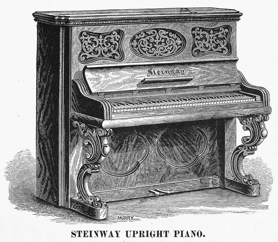 Steinway Piano, 1878 Photograph
