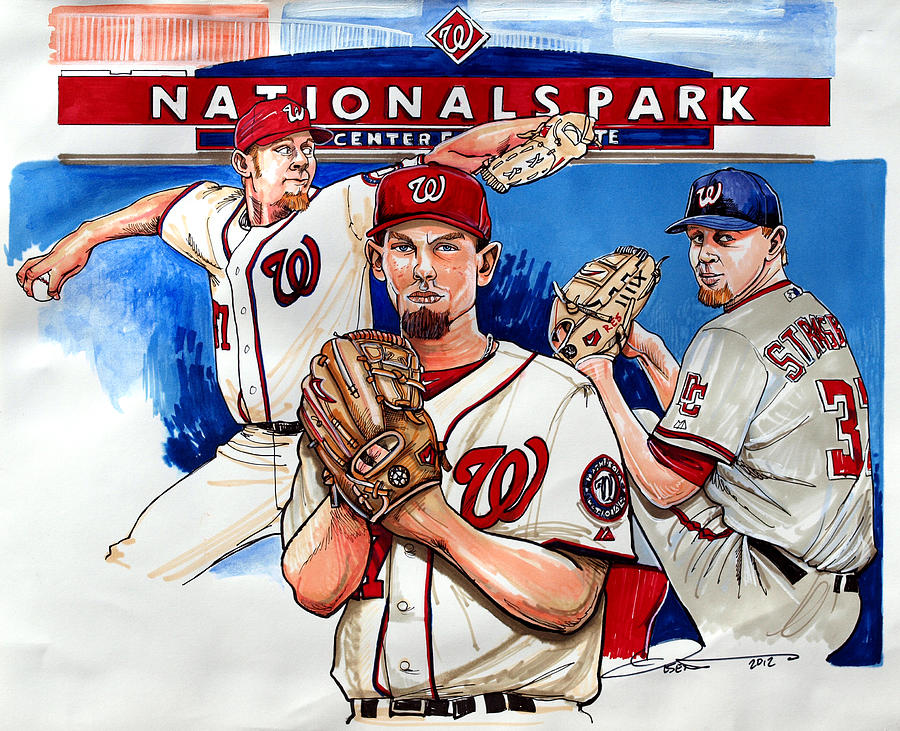Stephen Strasburg Drawing