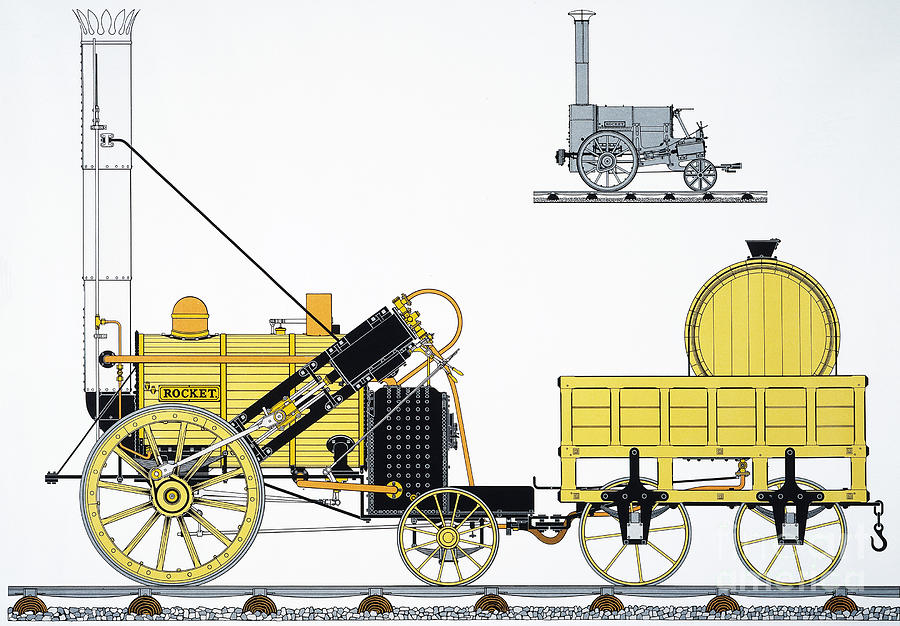 George stephenson rocket steam engine