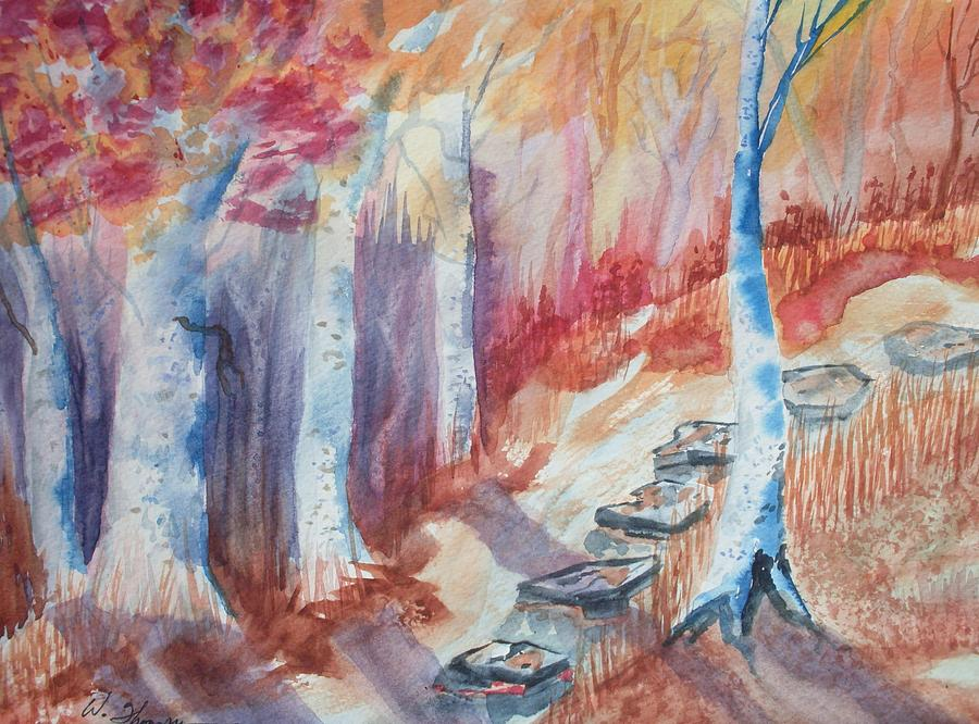 Stepping Stones Into Fall Painting