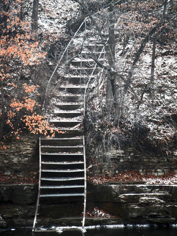 Iowa Falls Photograph - Steps  by Jon Baldwin  Art