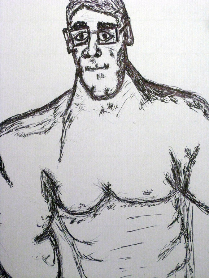 Steriod Dude Drawing