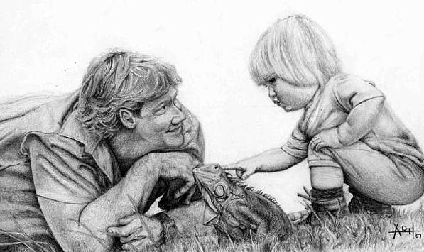 Steve Irwin Drawing