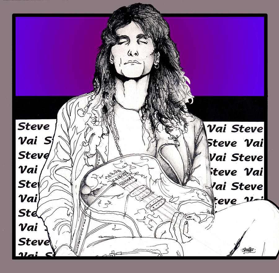 Steve Vai Sitting Mixed Media  - Steve Vai Sitting Fine Art Print