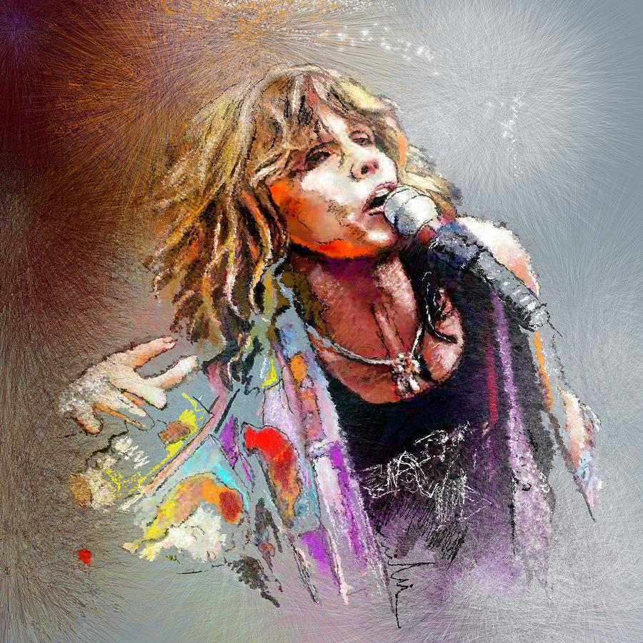 Steven Tyler 02  Aerosmith Painting
