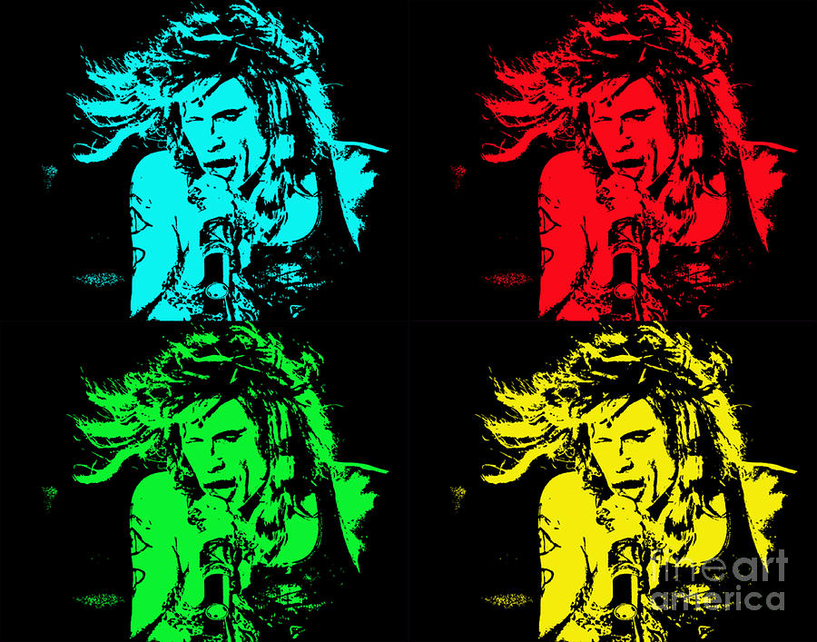 Steven Tyler Pop Art Photograph
