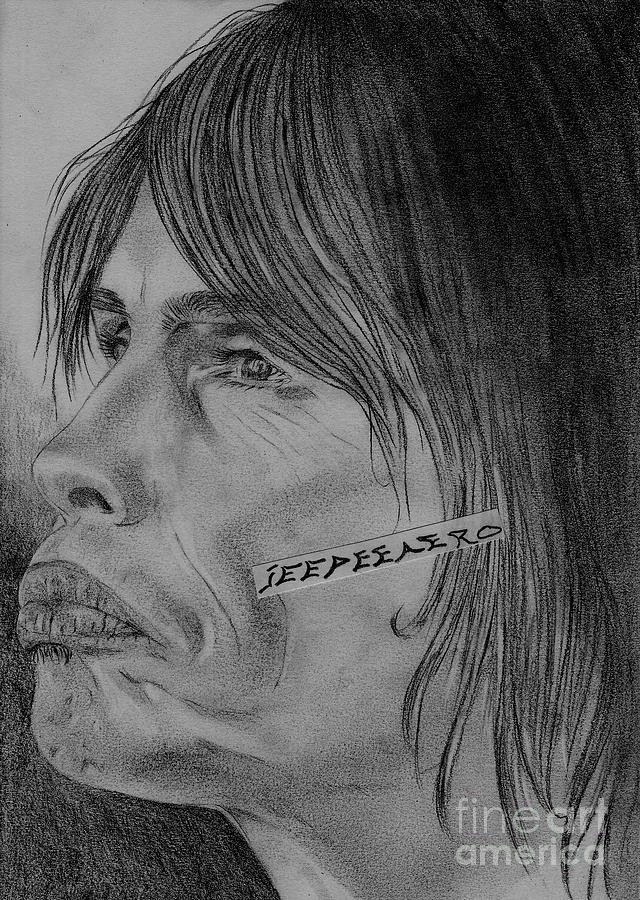 Steven Tyler Portrait Drawing Image Picture Drawing  - Steven Tyler Portrait Drawing Image Picture Fine Art Print