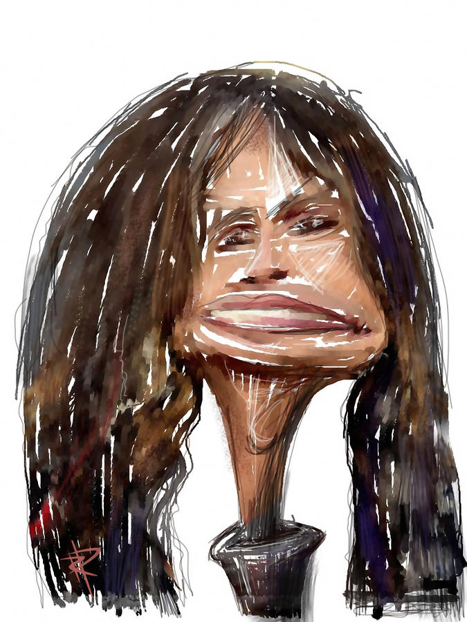 Steven Tyler Mixed Media  - Steven Tyler Fine Art Print