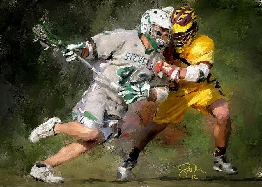 Stevenson Lacrosse Painting
