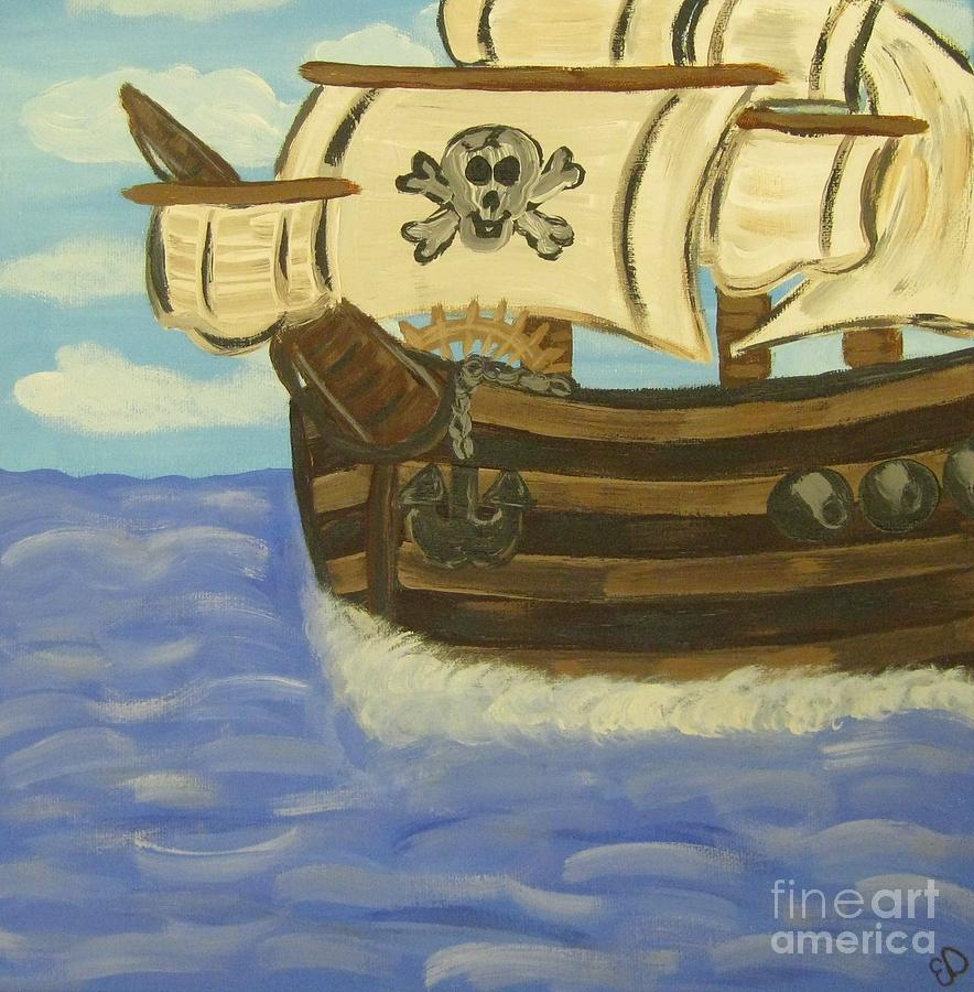 Steves Spooky Ship Painting  - Steves Spooky Ship Fine Art Print