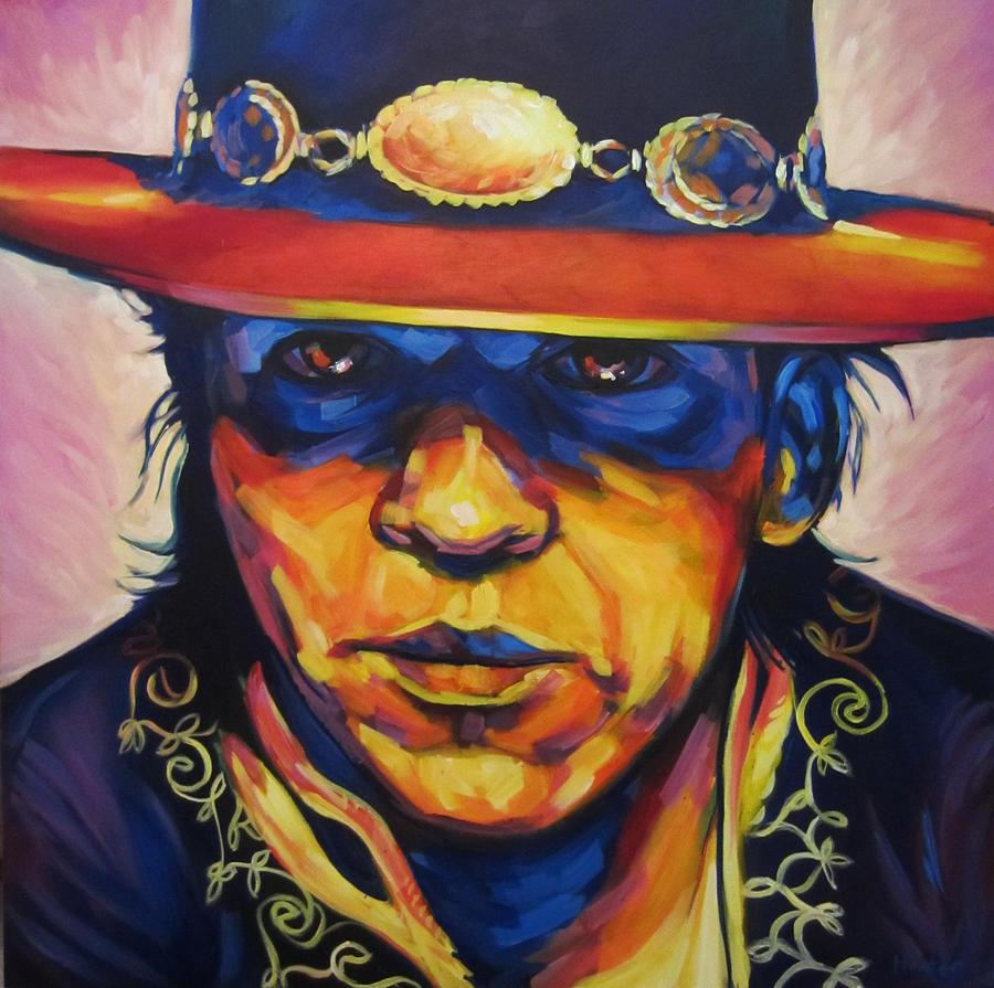 Stevie Ray Vaughan Blues Portrait Colorful Jazz Austin Painting - Stevie Ray ... - stevie-ray-steve-hunter