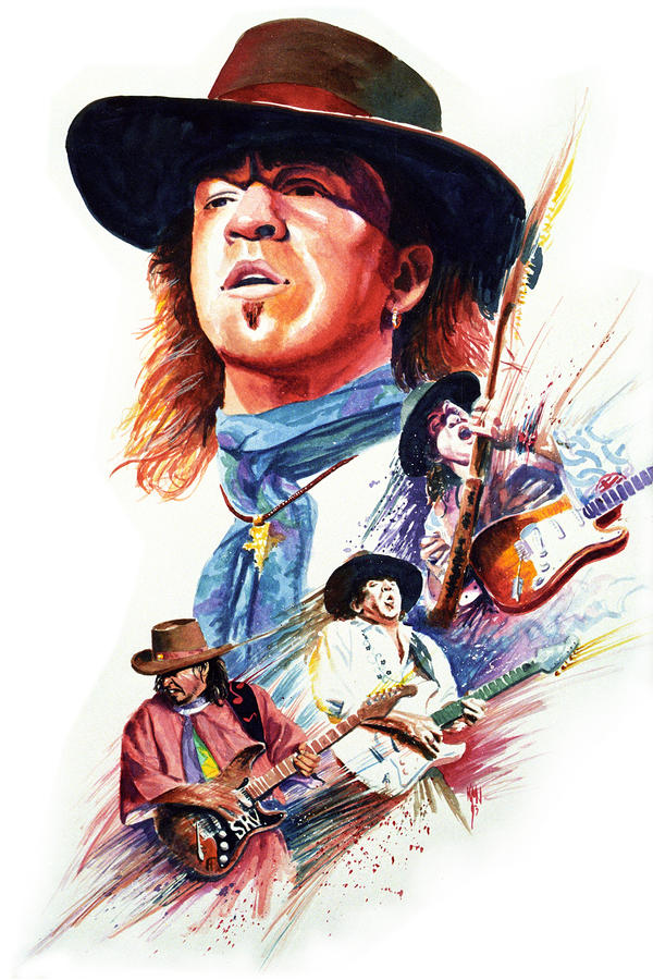 Stevie Ray Vaughn Painting  - Stevie Ray Vaughn Fine Art Print