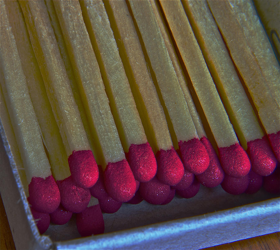 stick matches II Photograph  - stick matches II Fine Art Print